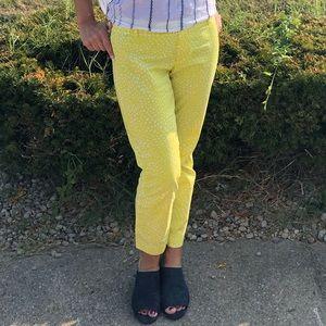 Gap Yellow slim fit cropped pants